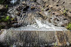Waterfall on a Small Stream Stock Photo