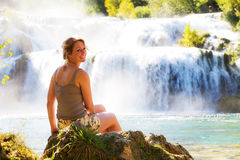 Waterfall smile Royalty Free Stock Photos