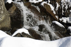 Waterfall in the snow Stock Image