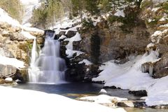 Waterfall in snow Royalty Free Stock Photography