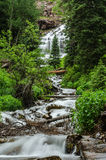 Waterfall from Snow Melt from Ice Lake Basin Royalty Free Stock Photo