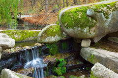 Waterfall in Sofiyivsky Park Stock Images