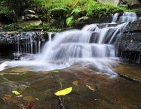 Waterfall Soft. The beautiful waterfall at Phukraduang National Park in Thailand stock images