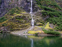 Waterfall on Sogne fjord Royalty Free Stock Photos