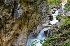 Waterfall. Somewhere in Austria at summer Stock Photos