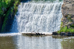 Waterfall somewhere in southern Russia. Steppes region stock images