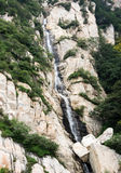 Waterfall in Songshan mountains, China. Waterfall in sacred Songshan mountains in Henan province, China Royalty Free Stock Photography