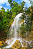 Waterfall in Soroa,a cuban touristic landmark Royalty Free Stock Image