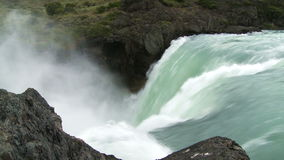 Waterfall with sound stock video footage