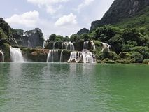 Waterfall in south China stock images