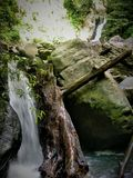 Waterfall in south east Asian jungle stock images
