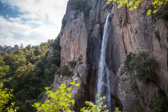 Waterfall, South part of Corsica island, France Royalty Free Stock Photo