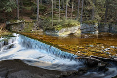 Waterfall in Southern Poland Royalty Free Stock Photography