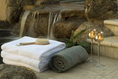 Waterfall spa 1 Royalty Free Stock Images