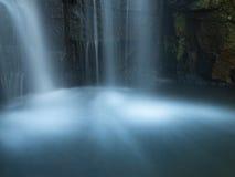 Waterfall splash pool in the morning Stock Photos