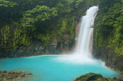 Waterfall Spray. Water blows mist along the jungle Stock Photo