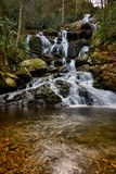 Waterfall In The Spring Royalty Free Stock Images