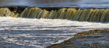 Waterfall in a spring. Royalty Free Stock Photography