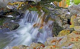 Waterfall in spring garden Stock Image