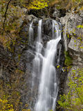 Waterfall in spring. Lago Verde in Lunigiana area of north Tusca Stock Photo