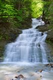 Waterfall in spring Stock Image