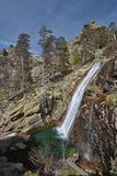 Waterfall in the spring mountains of Corsica Royalty Free Stock Images