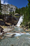 Waterfall in the spring valley of Gavarnie Stock Photography
