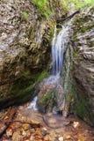 Waterfall spring in Zejmarska valley, Slovakia Royalty Free Stock Photography