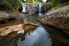 Waterfall on Sri Lanka Stock Image