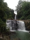 waterfall in Sri Lanka royalty free stock photos