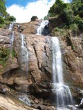 Waterfall in Sri Lanka. With clear water Royalty Free Stock Photos