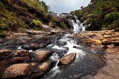 Waterfall on Sri Lanka Stock Photo