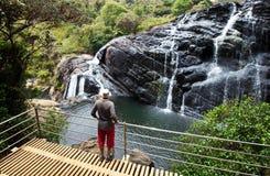 Waterfall on Sri Lanka Stock Photo