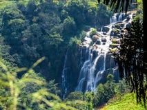 Waterfall in Sri Lanka. View from above of a waterfall in Nuwara Eliya, Sri Lanka Stock Photography