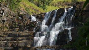 Waterfall St. Claire, Sri Lanka stock video