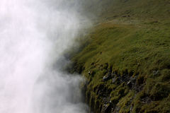 Waterfall steam of Gullfoss Royalty Free Stock Photography
