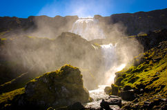 Waterfall steam royalty free stock photography