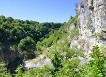 Waterfall of Stenopotamos Royalty Free Stock Photo