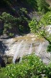 Waterfall of Stenopotamos Stock Photos