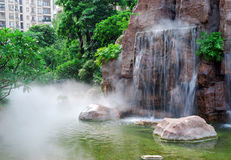 Waterfall and stone Royalty Free Stock Image