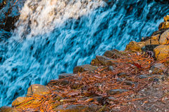 Waterfall and stone edge Royalty Free Stock Photography