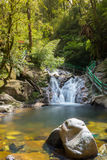 Waterfall with stone foreground. From Love waterfall Sapa Vietnam Royalty Free Stock Photo
