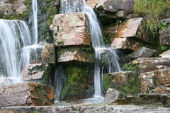 Waterfall Stone and Water streams Stock Image