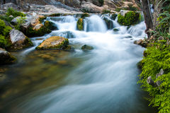 Waterfall with stones Royalty Free Stock Image