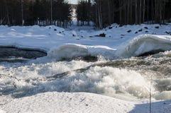 Storforsen in winter Royalty Free Stock Image