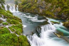 Waterfall of Strbacki Buk in Bosnia and Herzegovina Royalty Free Stock Images