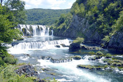 Waterfall,Strbacki Buk. Travel to Europe under summer,Waterfall on the river Una near Bihac in the Bosnia and Herzegovina Stock Photo