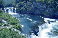 Waterfall,Strbacki Buk. Travel to Europe under summer,Waterfall on the river Una near Bihac in the Bosnia and Herzegovina Royalty Free Stock Image