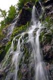 Waterfall stream. Mountain high cliff waterfall stream Stock Photos