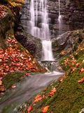 Waterfall on the stream. Nature,water,waterfalls,streams,autumn Royalty Free Stock Photo